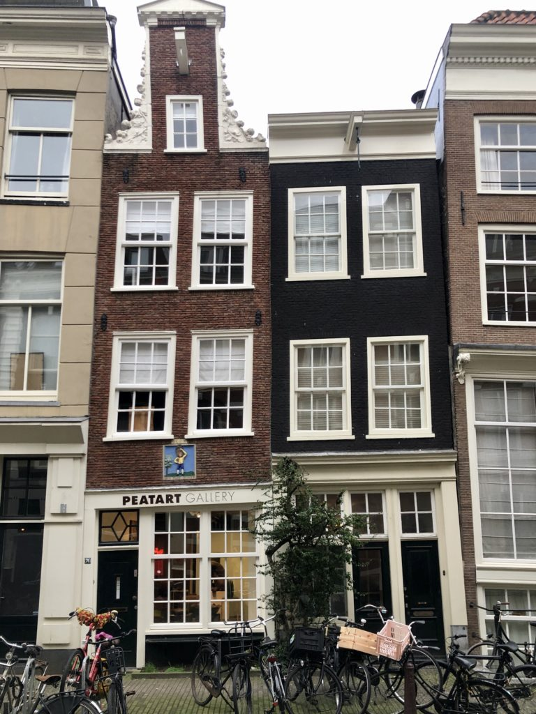The wonky houses of Amsterdam.