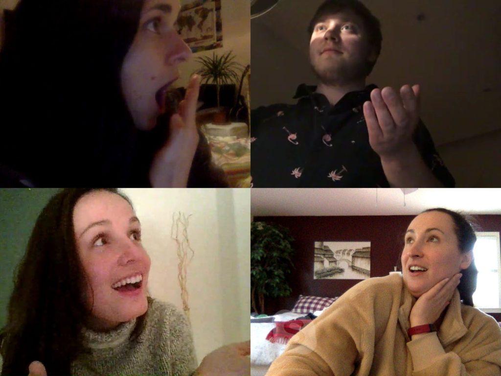Loredana, me, Heidi, and Megan on Skype.