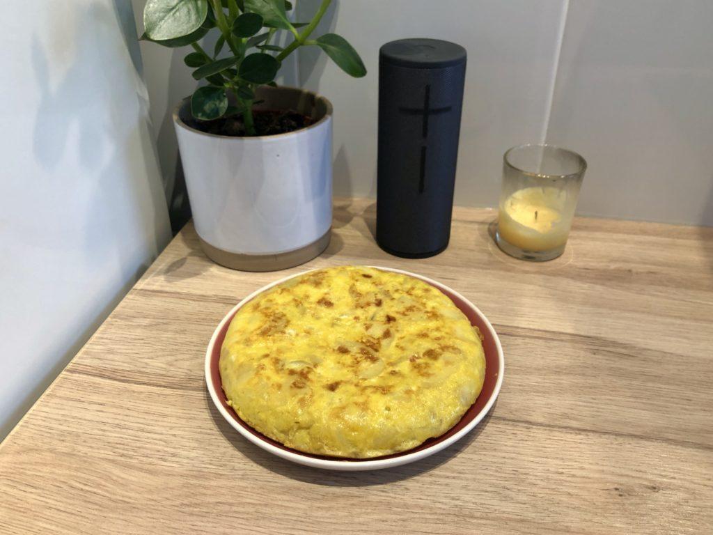 A Spanish omelette.