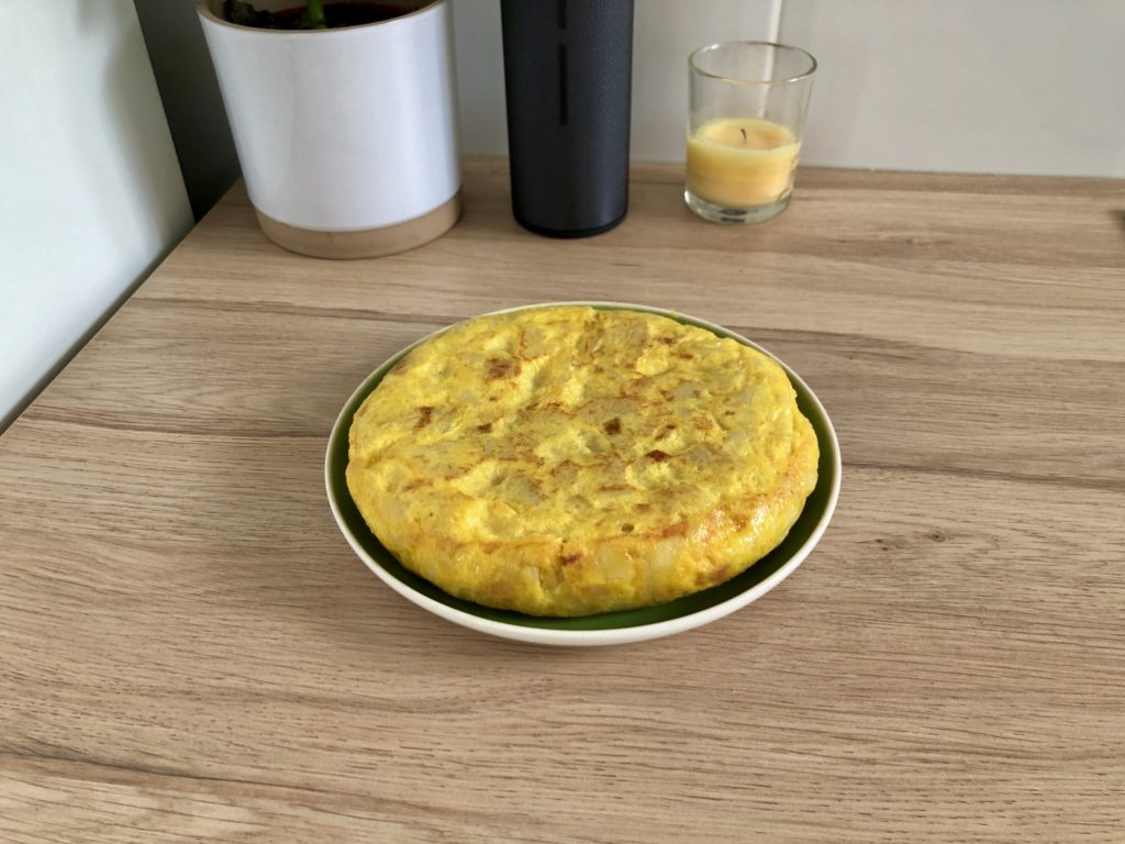 A Spanish omelette that I made.
