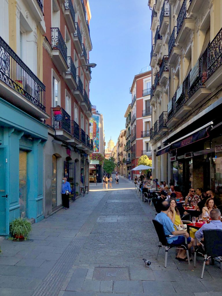 The streets of Chueca in Madrid, Spain.