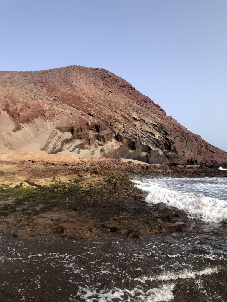 The red mountain in Tenerife, a rock formation.