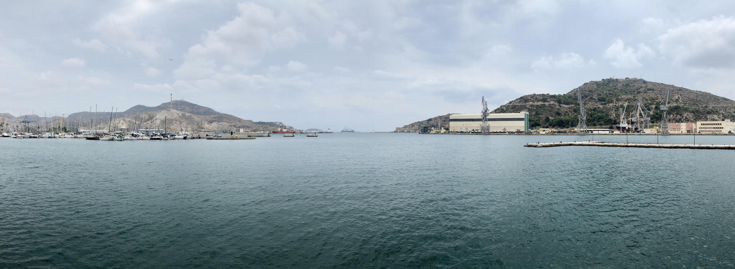 A panorama of the see seen from Cartagena, Murcia, Spain.